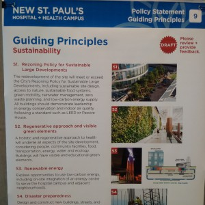 A snapshot of the City of Vancouver's guiding principles for the new St. Paul's hospital and health campus.