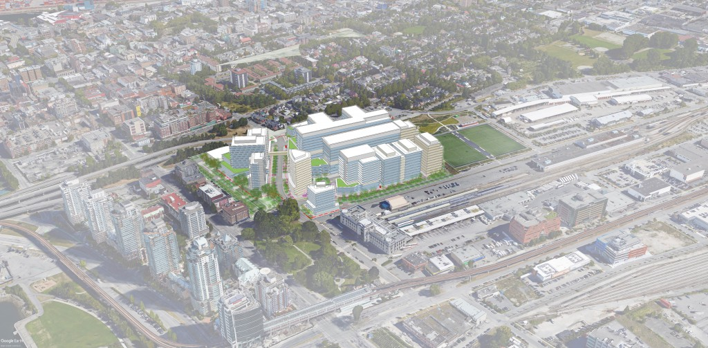 Conceptual drawing of New St. Paul's and Health Campus.